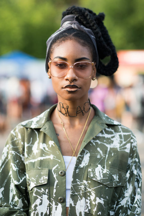 Afro Punk Street Style - Elle US